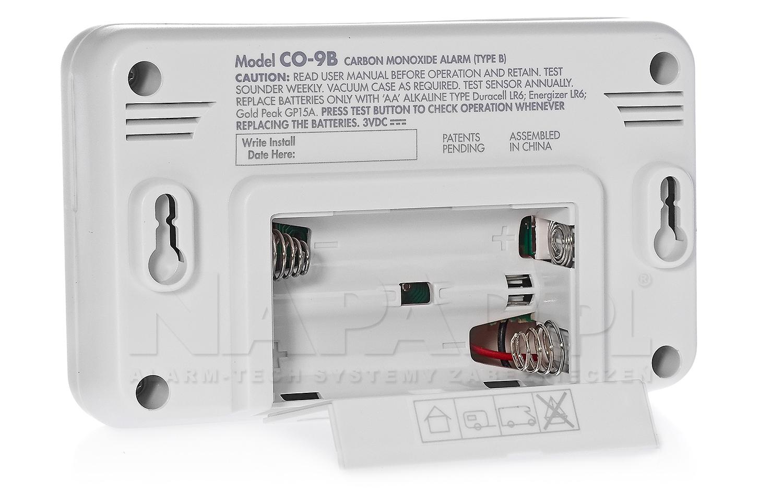 Czujnik tlenku węgla FIREANGEL CO-9B