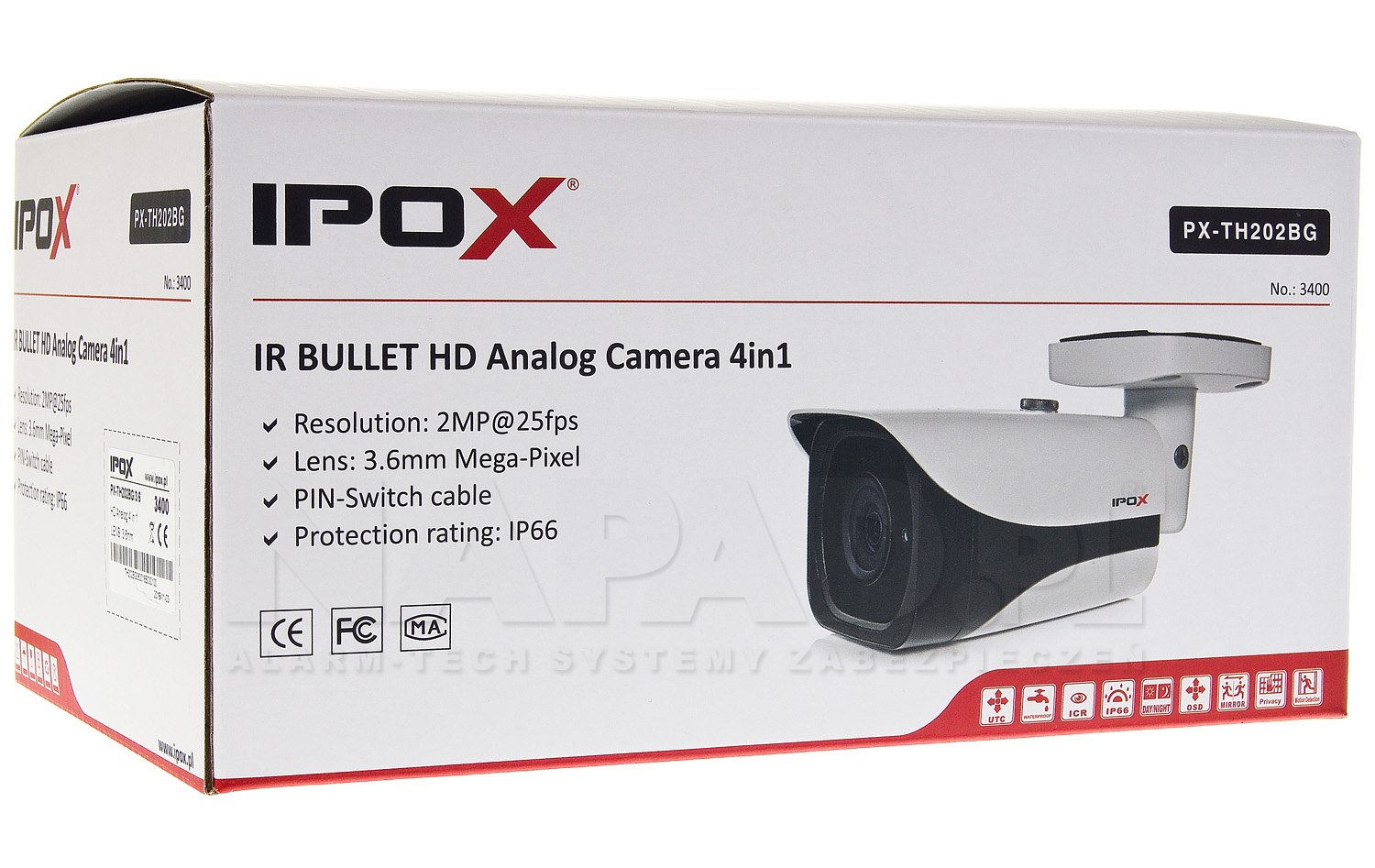 Kamera Analog HD 2Mpx PX-TH202BG
