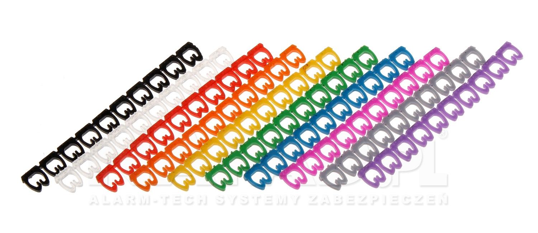 Zestaw oznaczników kabli  4-5mm