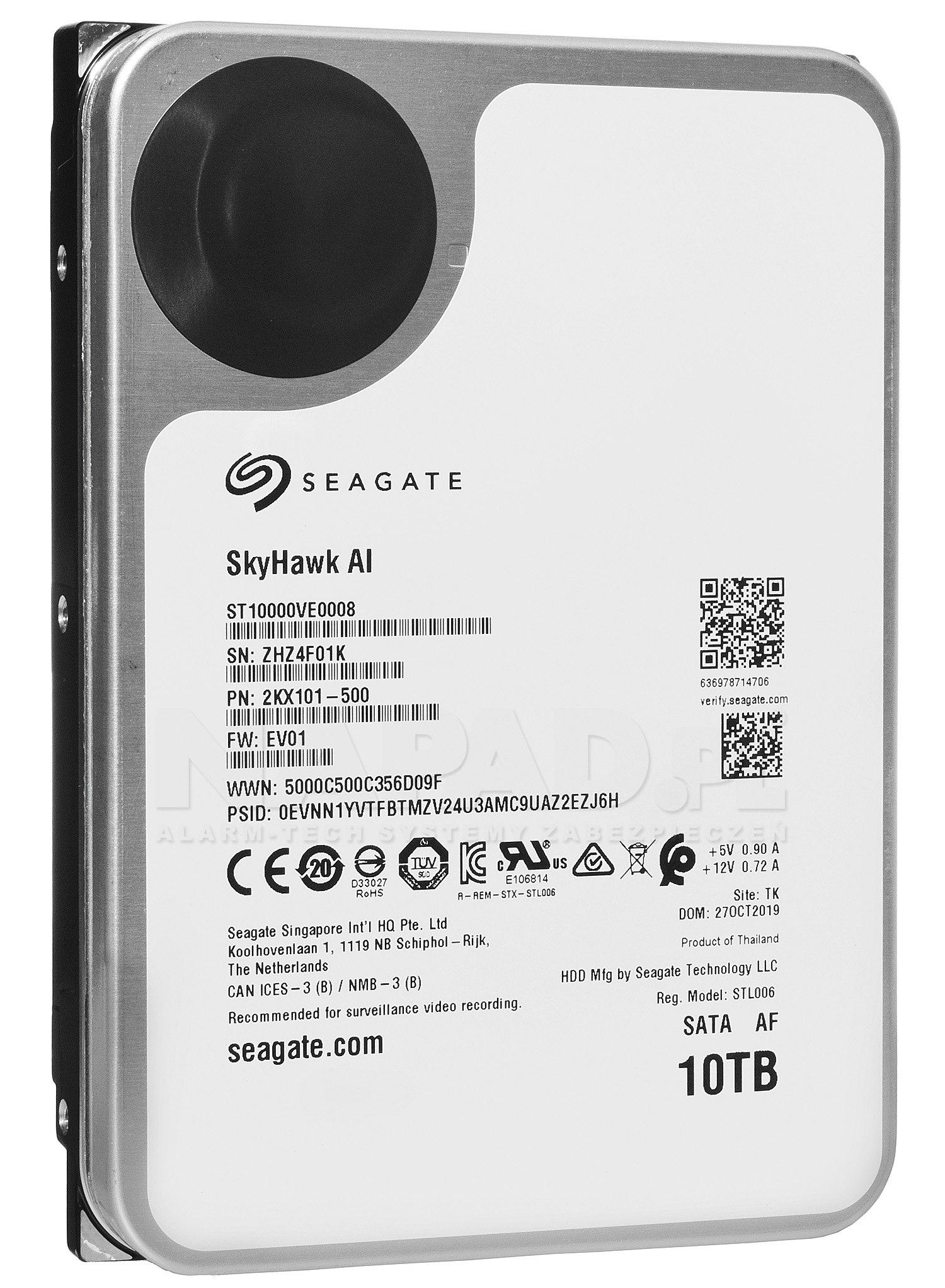 Dysk 10TB SATA III Seagate SkyHawk