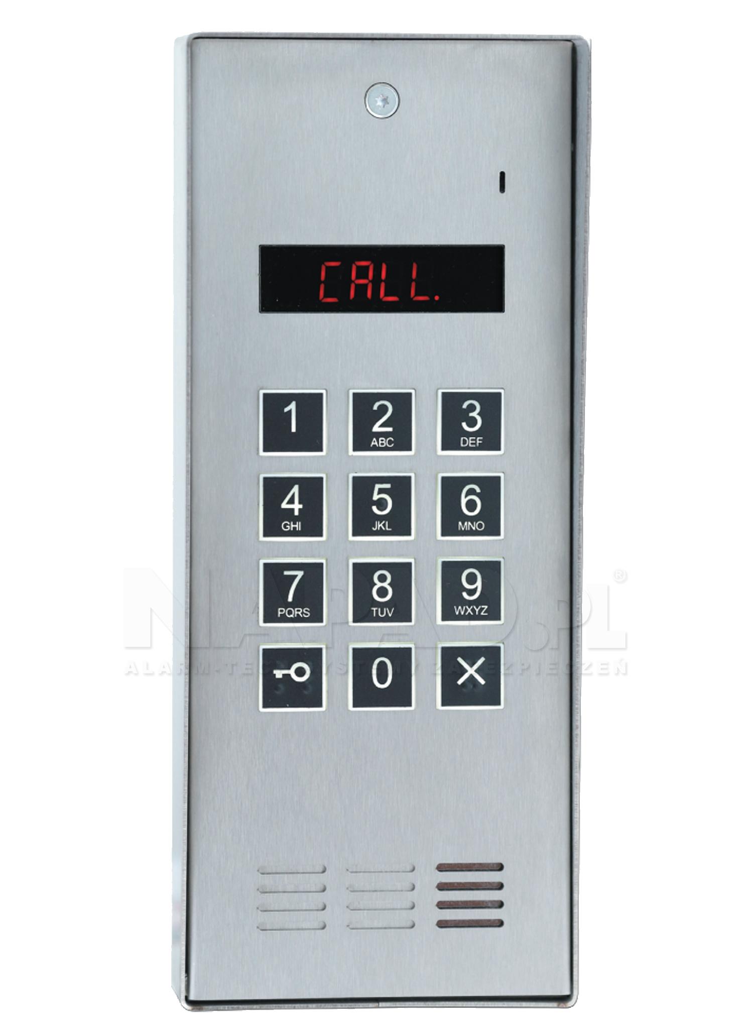 CD2600R INOX - Cyfrowy panel domofonowy