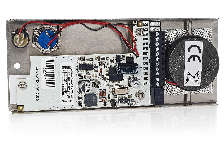 Płyta domofonowa z 1 przyciskiem ELITE 6025/PR1-RF