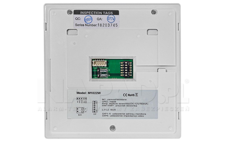 Monitor do wideodomofonu M1022W
