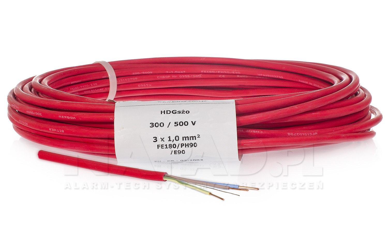 Przewód HDGs żo PH90 3x1.0