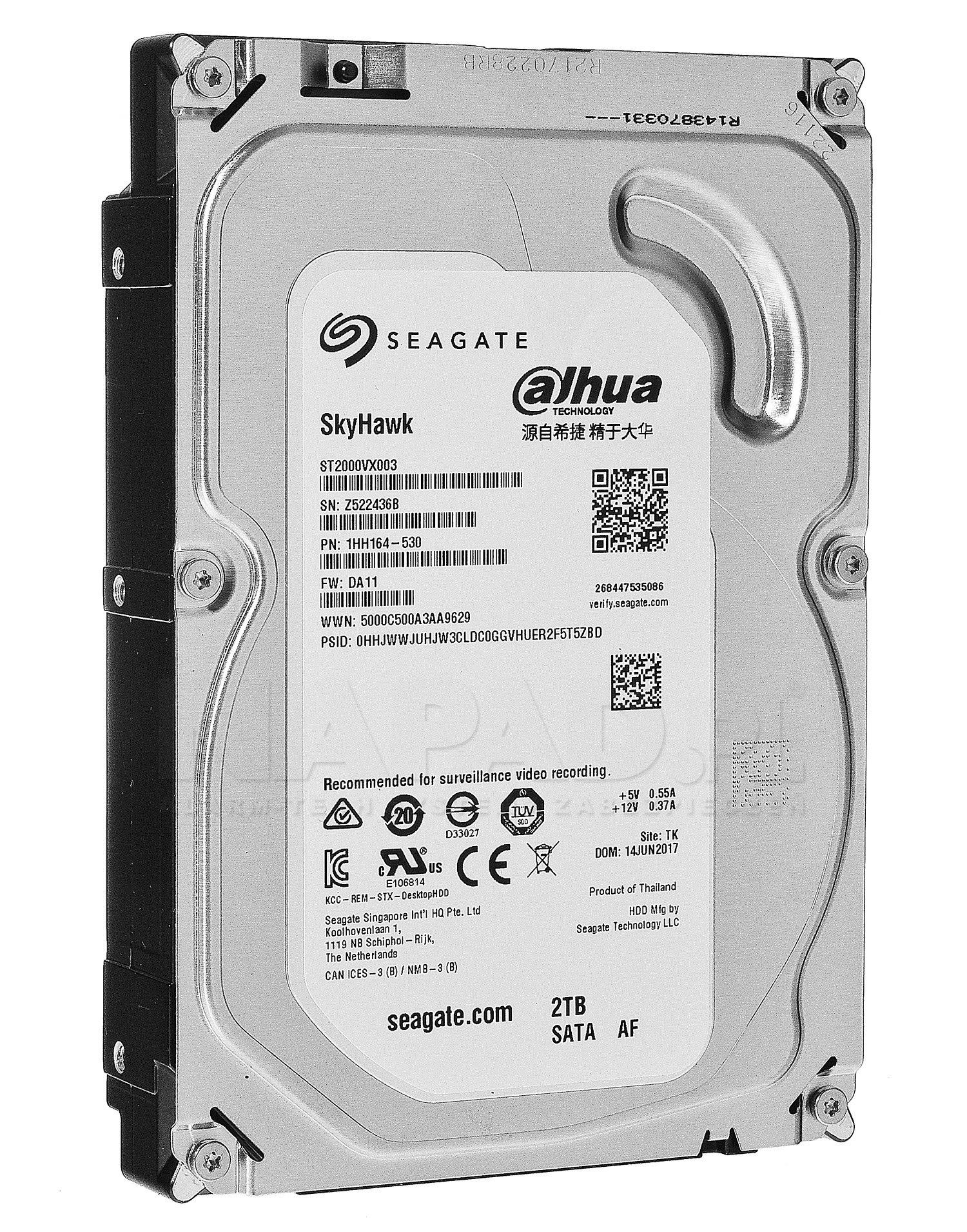 Dysk 2TB SATA III Seagate SkyHawk