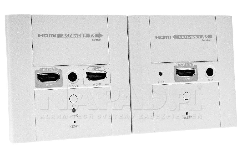 Extender HDMI po skrętce z IR do 50 m