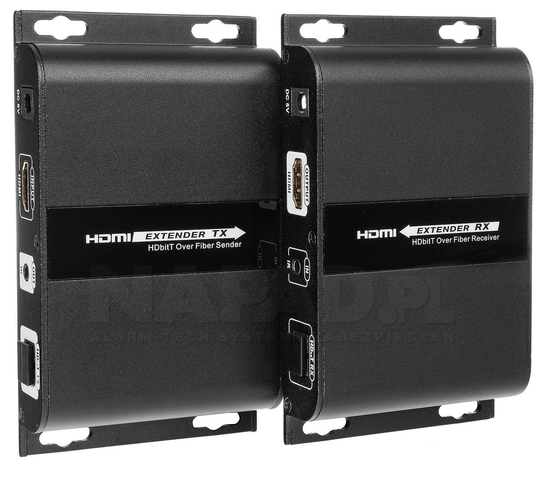 Konwerter sygnału HDMI na światłowód + IR
