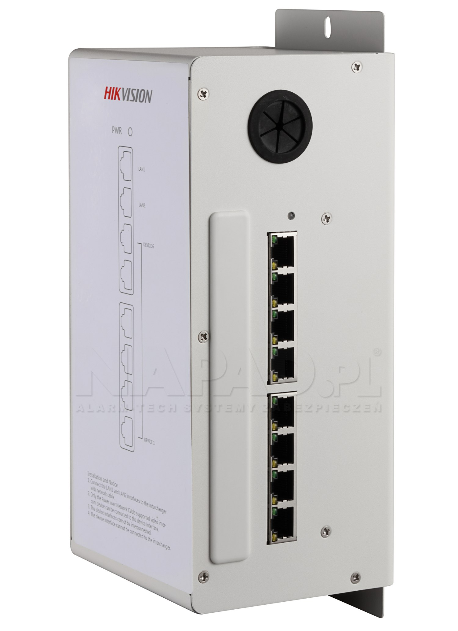 Switch PoE do wideodomofonów DS-KAD606
