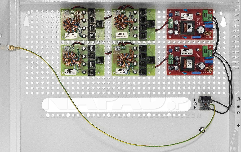 System do transmisji wideo i zasilania AN-16-ISO-H