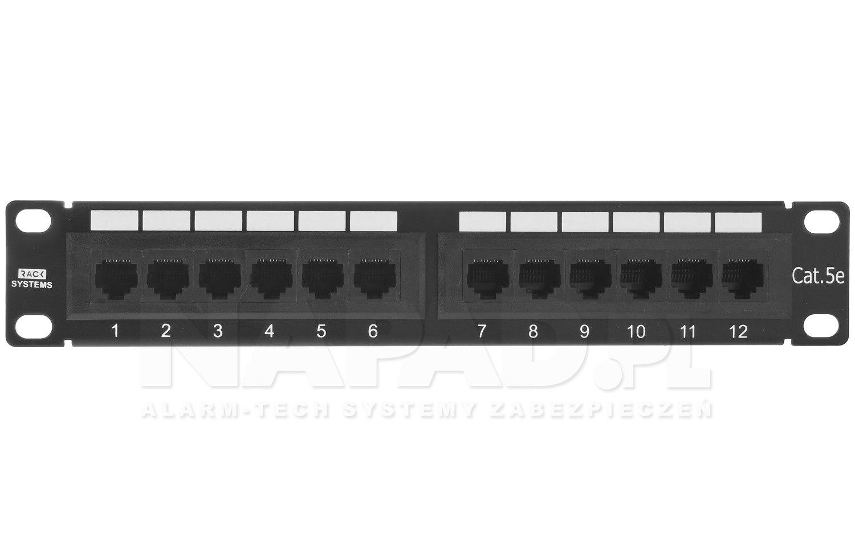 Patch panel 12-portów UTP5e 10