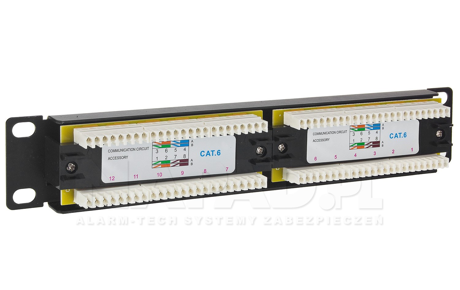 Patch panel 12-portów UTP6 10