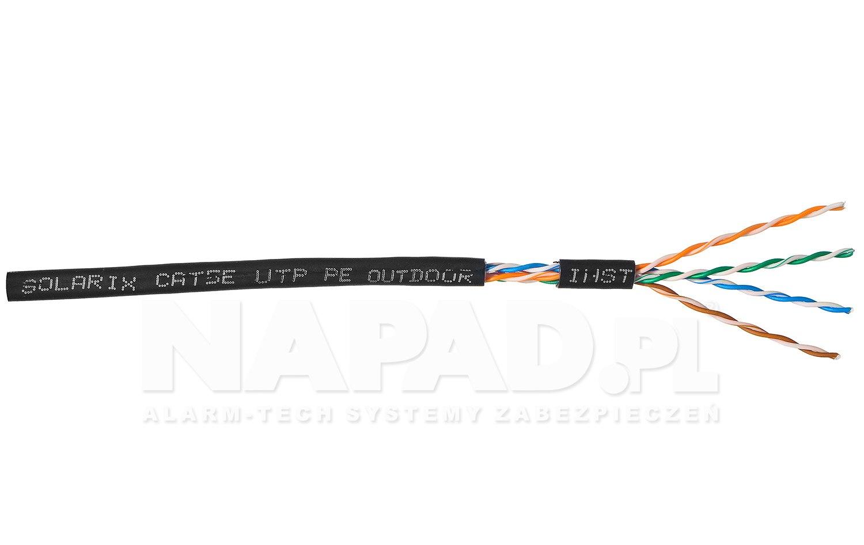 Kabel LAN U/UTP kat.5e Solarix SXKD-5E-UTP-PE UV