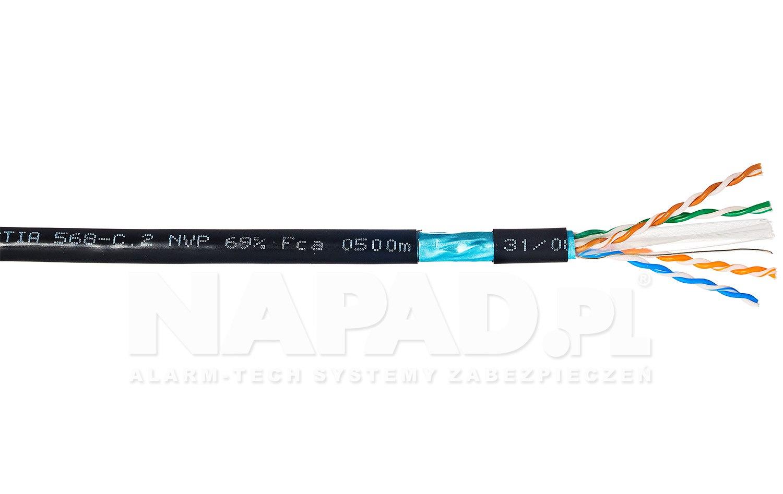 Kabel LAN F/UTP kat.6 Solarix SXKD-6-FTP-PE