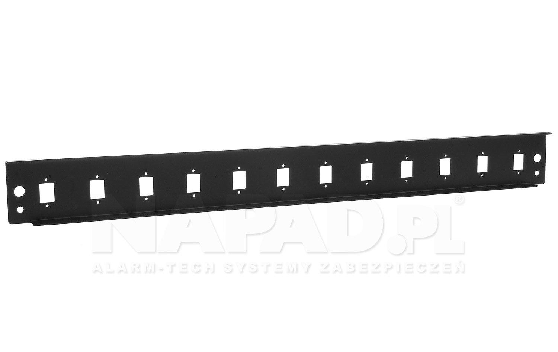 Panel 12-portowy do adapterów SC simplex
