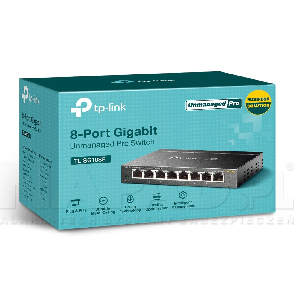Switch gigabitowy, 8-portowy TL-SG108E