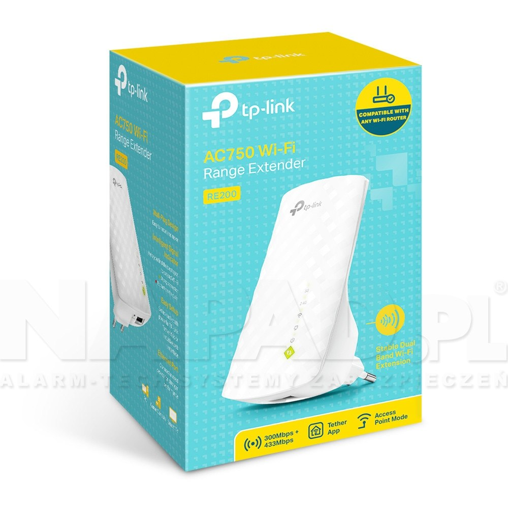Wzmacniacz sieci WiFi AC750 RE200