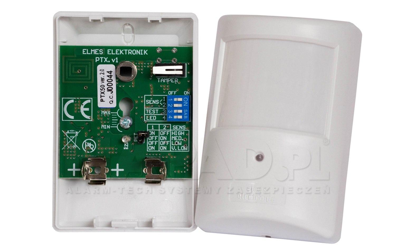 PTX50 v2.0 - Bezprzewodowy czujnik ruchu