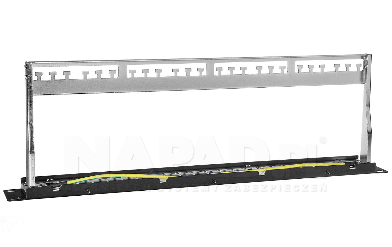 Patch panel 24-porty Keystone PP24B