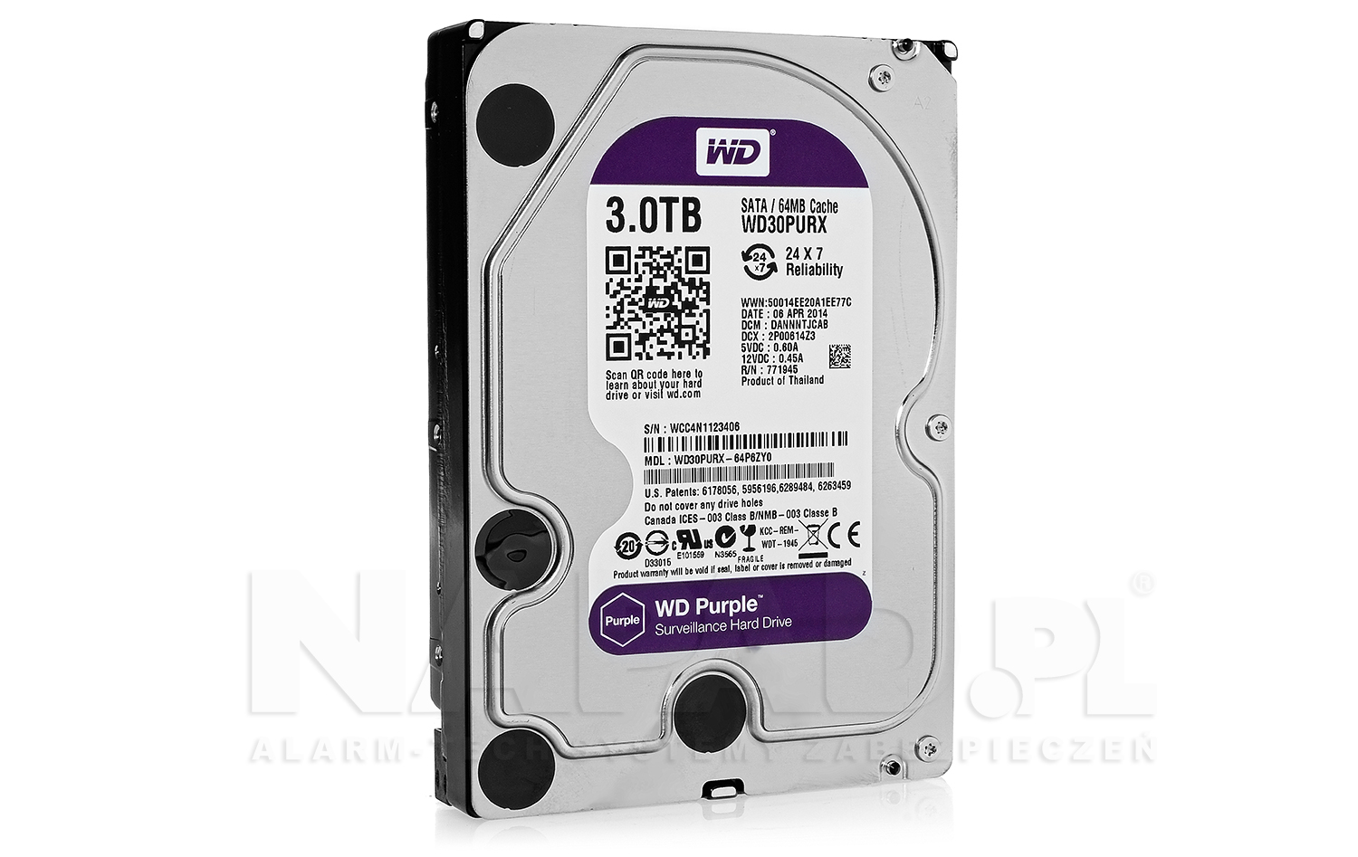 Dysk 3TB SATA III Western Digital Purple