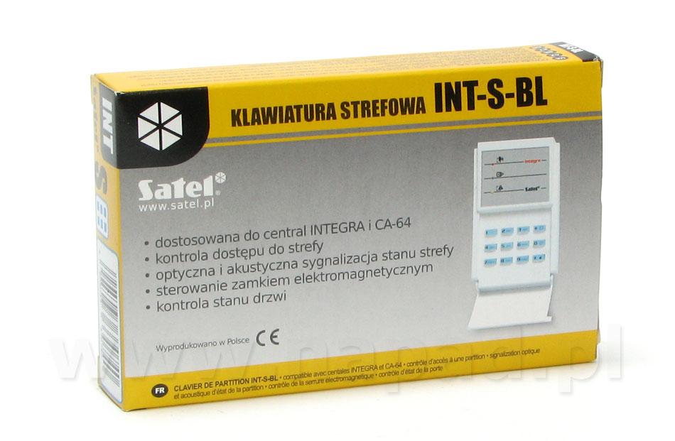 INT-S-BL Klawiatura strefowa