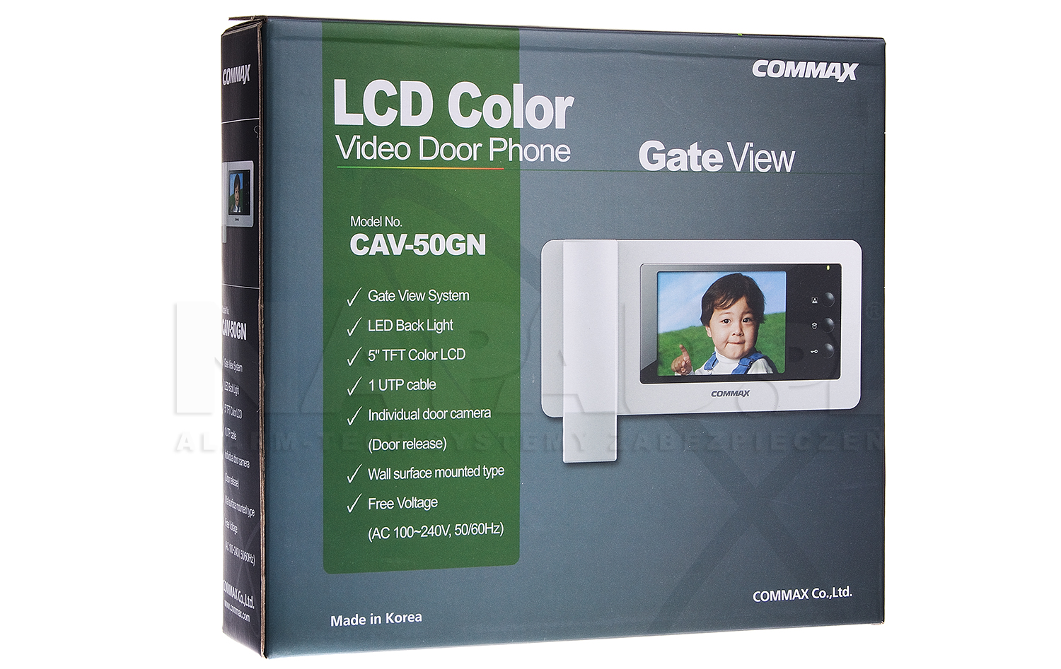 Monitor do wideodomofonu Gate View CAV-50GN COMMAX