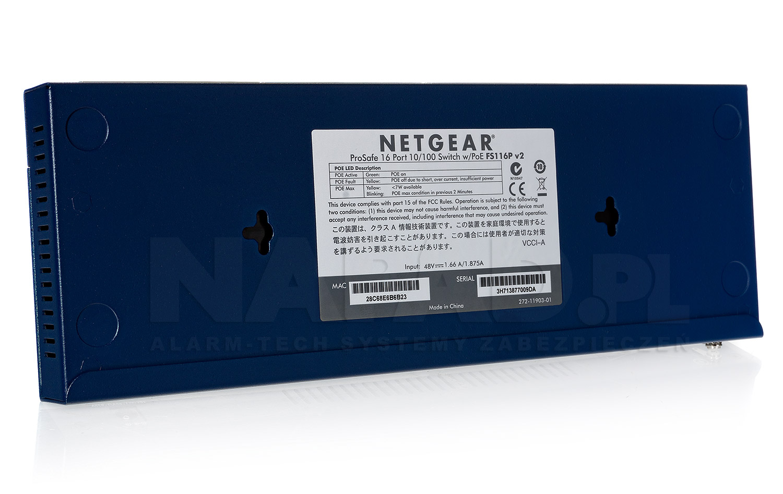 Switch 16-portowy FS116P PoE NETGEAR