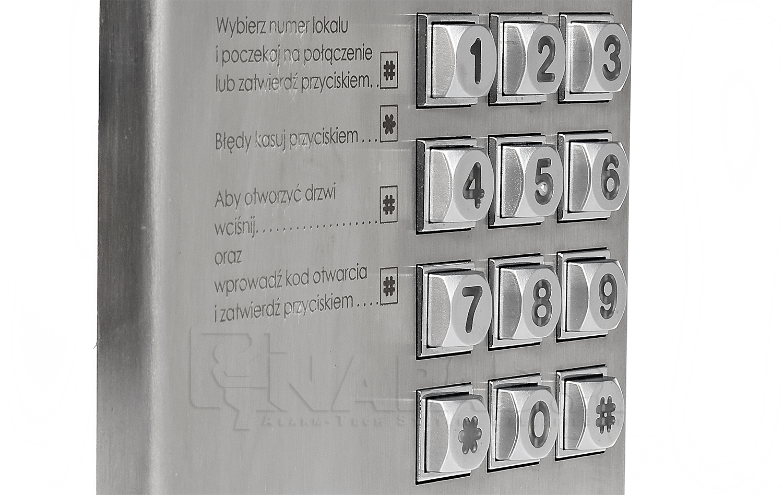 Panel wywołania z klawiaturą BASIC 1062/100D
