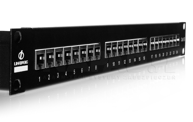 Patch panel 24-porty UTP5e z listwą wspierającą