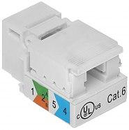 Gniazdo keystone RJ45 cat.6 UTP FXRJ4562