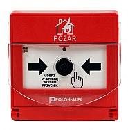Radiowy, wewnętrzny ręczny ostrzegacz pożarowy ROP-4007