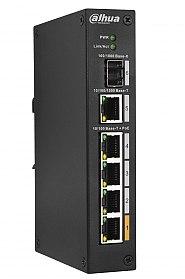 Switch PoE 4-port + 1 RJ45 + 1 SFP (DH-PFS3106-4ET-60-V2)