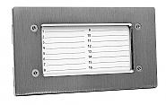 NP-2521 - Panel informacyjny poziomy INOX
