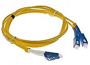 Patchcord optyczny jednomodowy LC-SC 9/125 1m duplex