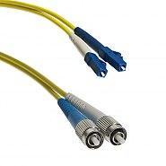 Patchcord LC/UPC-FC/UPC SM 9/125 duplex 1m