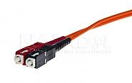 Patchcord optyczny wielomodowy SC-FC 50/125 1m duplex - 8