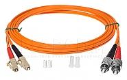Patchcord optyczny wielomodowy FC-LC 50/125 1m duplex - 6