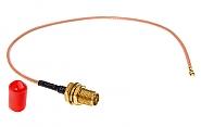 Konektor wtyk U.FL - gniazdo SMA R/P 0,2m - 1