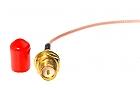 Konektor wtyk U.FL - gniazdo SMA R/P 0,2m - 3