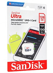 Karta pamięci microSD SanDisk 128GB bez adaptera