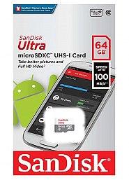 Karta pamięci microSD SanDisk 64GB bez adaptera