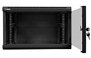 Szafa Rack 19'' 6U 600mm wisząca W6606 czarna