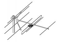 Antena telewizyjno-radiowa 7/5-12 DVB-T DAB - 1