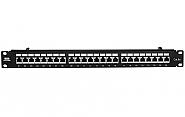Patch panel 24-porty FTP cat6a 19