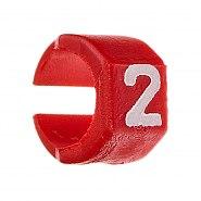Zestaw oznaczników kabli 4.5-6mm Czerwony