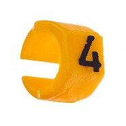 Zestaw oznaczników kabli 4.5-6mm Żółty