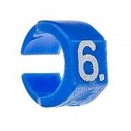 Zestaw oznaczników kabli 4.5-6mm Niebieski