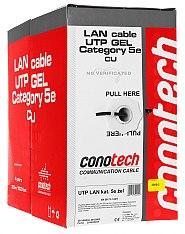 Kabel LAN U/UTP kat.5e Conotech UV ŻEL
