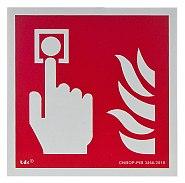 Znak ochrony pożarowej BA F005 - Alarm pożarowy