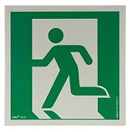 Znak AAE001 wyjście ewakuacyjne lewostronne