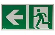 AA E102 kierunek do wyjścia ewakuacyjnego w lewo